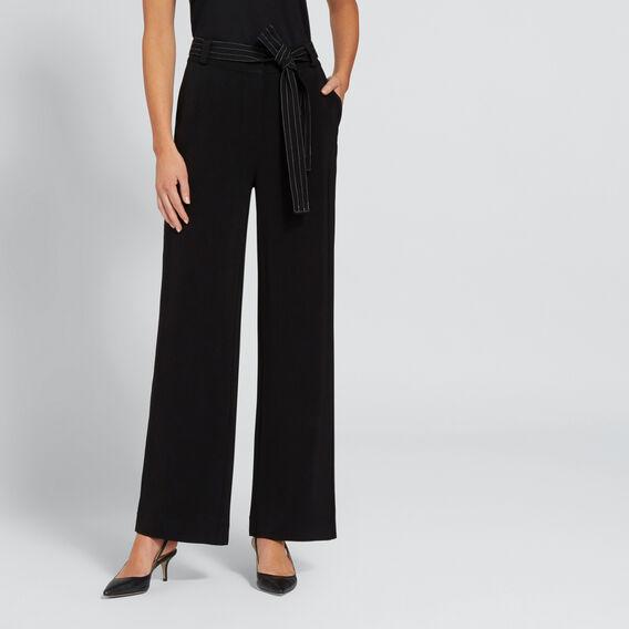 Contrast Stitch Pant  BLACK  hi-res