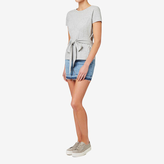 Frayed Denim Mini Skirt  SEA DENIM  hi-res