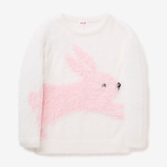 Fluffy Bunny Sweater  CANVAS  hi-res