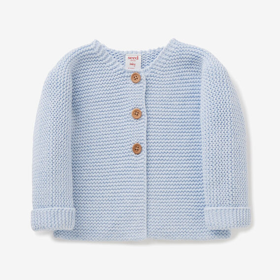 Chunky Knit Cardigan  PACIFIC BLUE MARLE  hi-res