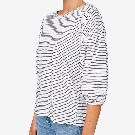 Boxy Blouson Sleeve Top  BLACK/WHITE STRIPE  hi-res