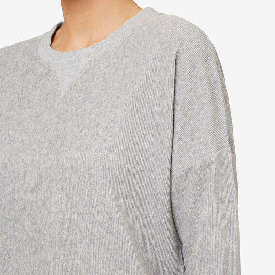 Velour Sweater  MID GREY MARLE  hi-res