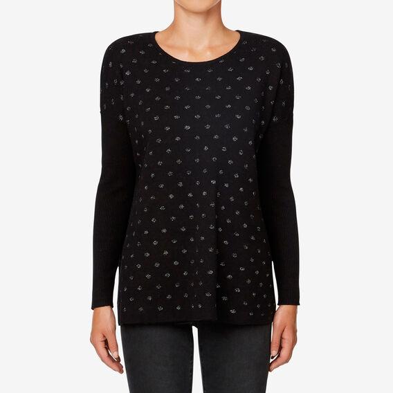 Lurex Spot Sweater  BLACK  hi-res