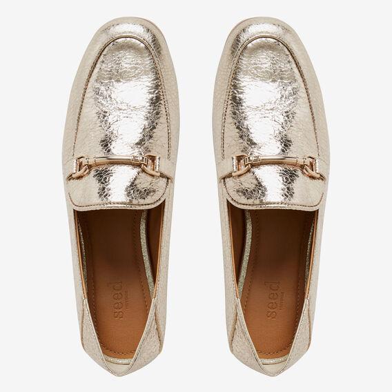 Valentina Metallic Loafer  GOLD  hi-res