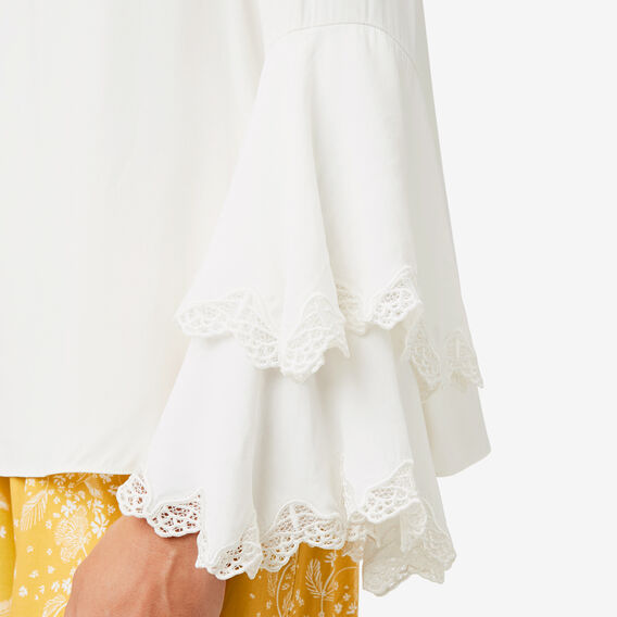 Lace Detail Blouse  CLOUD CREAM  hi-res