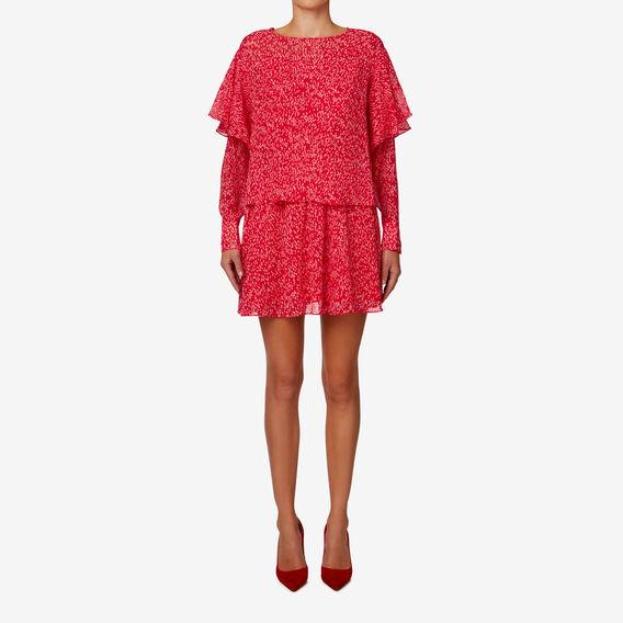 Drop Waist Frill Dress  BLURRED SPOT  hi-res