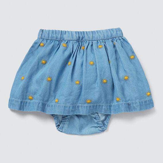 Tencel Skirt  SOFT BLUE WASH  hi-res