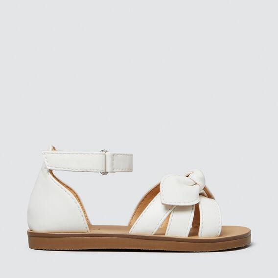 White Bow Sandal  WHITE  hi-res