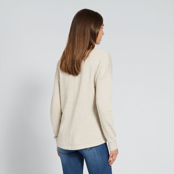 Zipper Sweater  WINTER OAK MARLE  hi-res