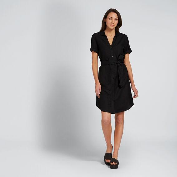Relaxed Shirt Dress  BLACK  hi-res