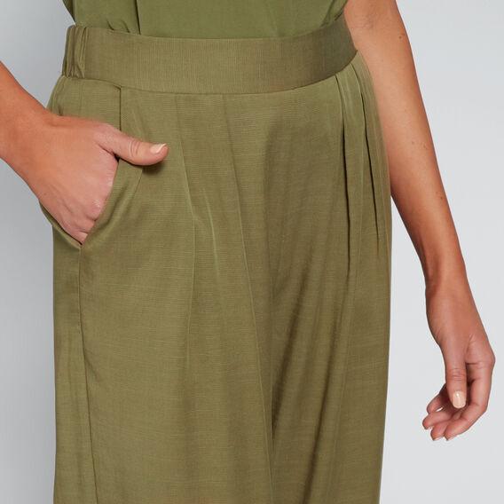 Soft Wide Leg Pant  OLIVINE  hi-res