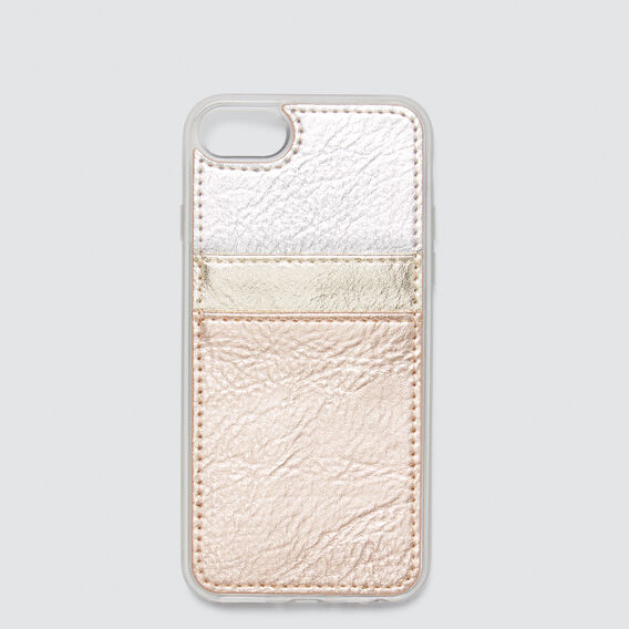 Twin Card Phone Case 6/7/8  METALLIC MULTI  hi-res