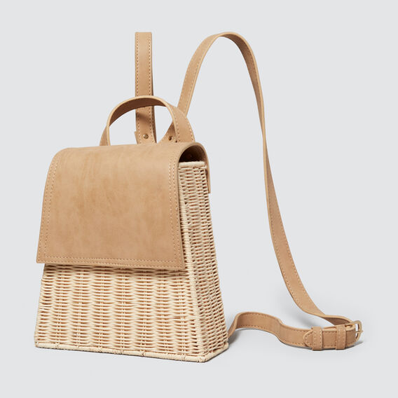 Wicker Backpack  NATURAL/ TAN  hi-res