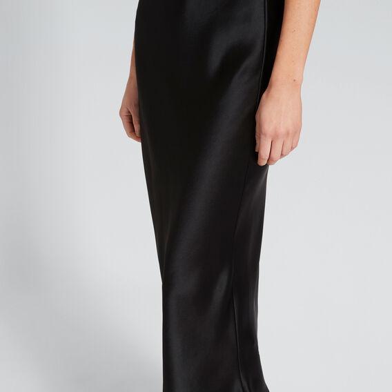 Satin Slip Skirt  BLACK  hi-res
