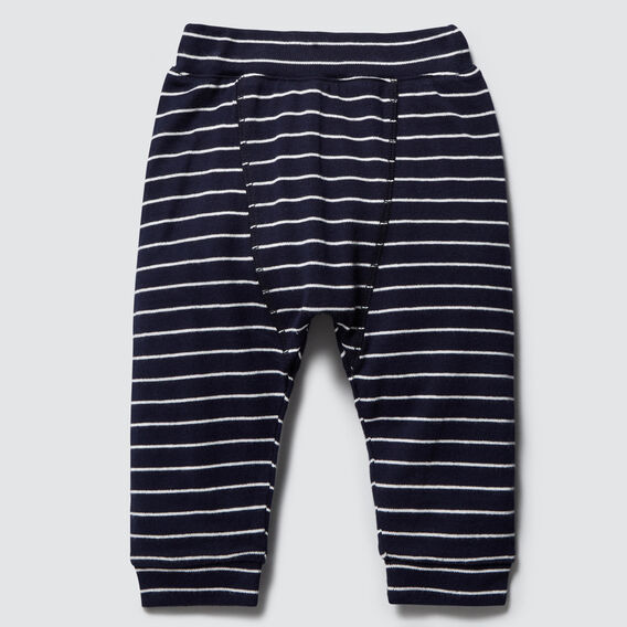 Stripe Splice Harem Pant  MIDNIGHT BLUE  hi-res