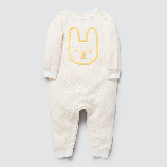 Chenille Bunny Jumpsuit  CANVAS  hi-res