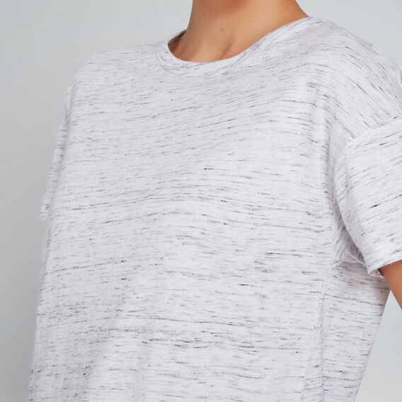 Short Sleeve Split Tee  VINTAGE WHITE MARLE  hi-res