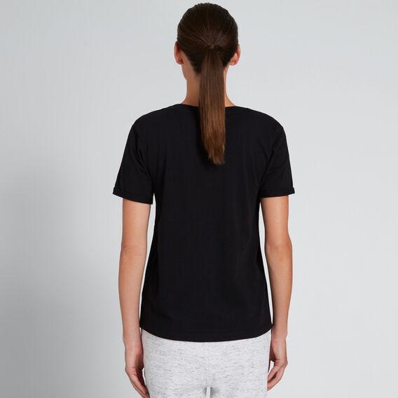 Short Sleeve V Neck Tee  BLACK  hi-res