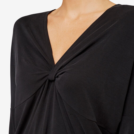 Relaxed Twist Top  WASHED BLACK  hi-res