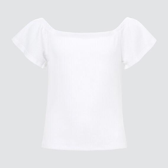 Ribbed Top  WHITE  hi-res