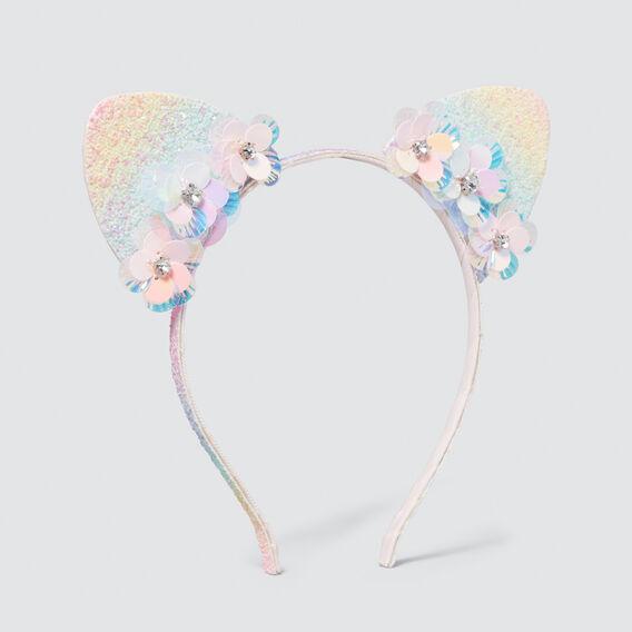 Rainbow And Flower Ears Headband  MULTI  hi-res