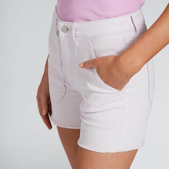 Patch Pocket Denim Short  LAVENDER DENIM  hi-res