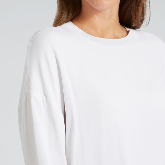 Slouchy Blouse  WHISPER WHITE  hi-res