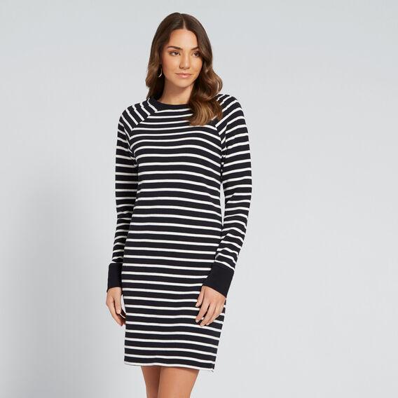 Casual Stripe Dress  NAVY/CANVAS  hi-res