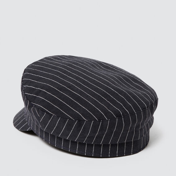 Baker Boy Cap  NAVY STRIPE  hi-res