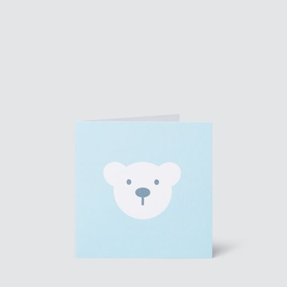 Small Blue Bear Card  MULTI  hi-res