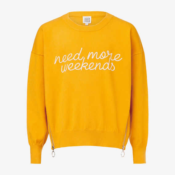 Slogan Sweater  SUNFLOWER  hi-res