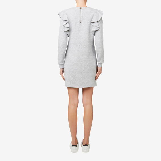 Frill Detail Dress  MID GREY MARLE  hi-res