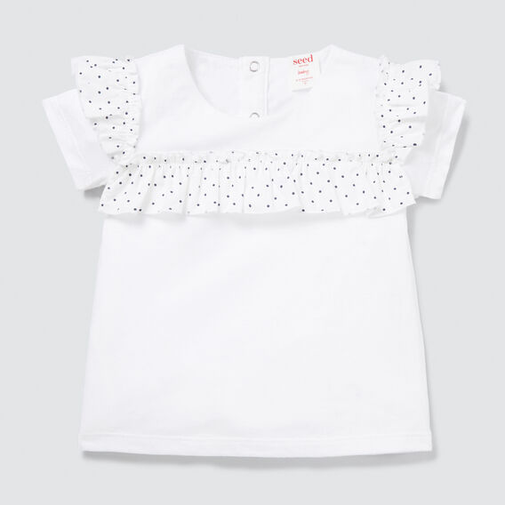 Splice Tee  WHITE  hi-res