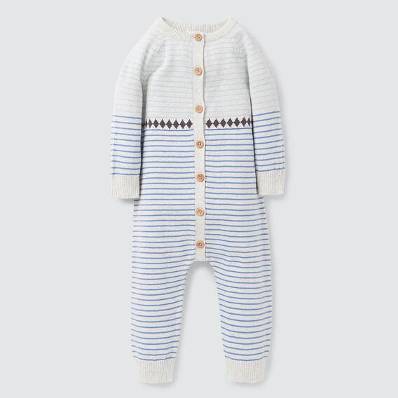 Stripe Knit Jumpsuit  ICY MARLE  hi-res