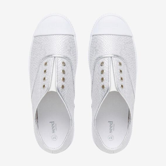 Amber Sneaker  SILVER EMBOSSED  hi-res