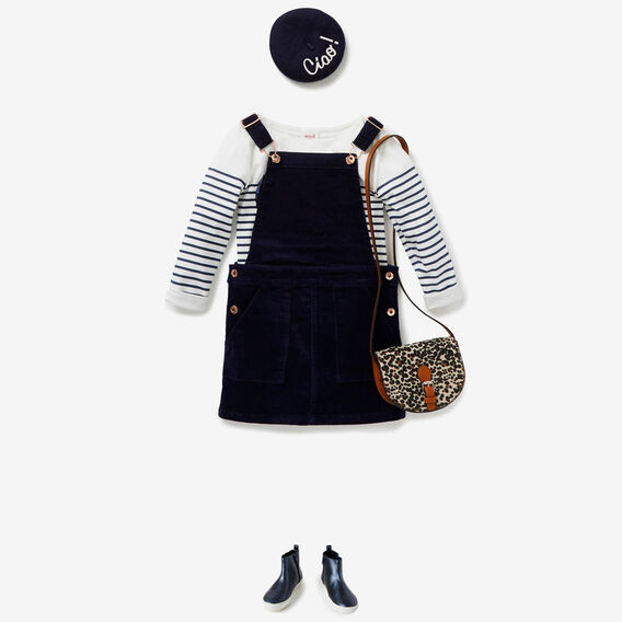 Cord Pinafore  NAVY  hi-res