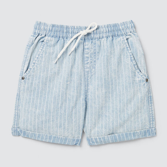 Stripe Chambray Short  CHAMBRAY  hi-res