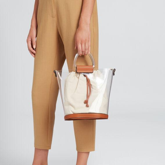 Transparent Bucket Bag  CLEAR/TAN  hi-res