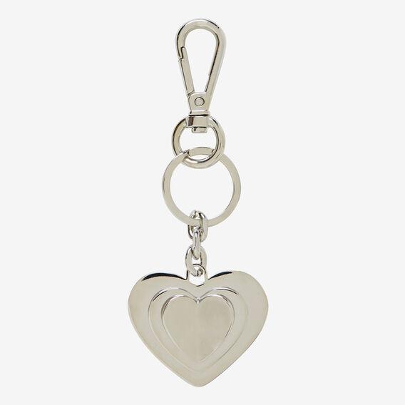 Heart Key Ring  SILVER  hi-res