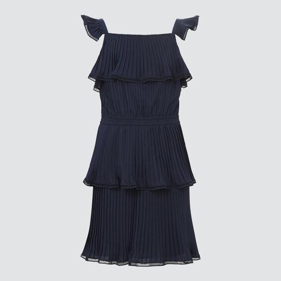 Pleated Chiffon Dress  MIDNIGHT  hi-res