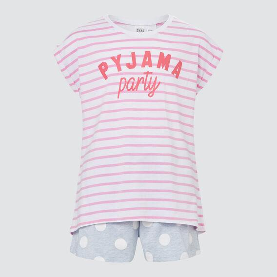 Pyjama Party Pyjama Set  FLAMINGO PINK  hi-res
