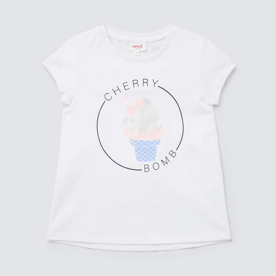 Cherry Bomb Tee  WHITE  hi-res