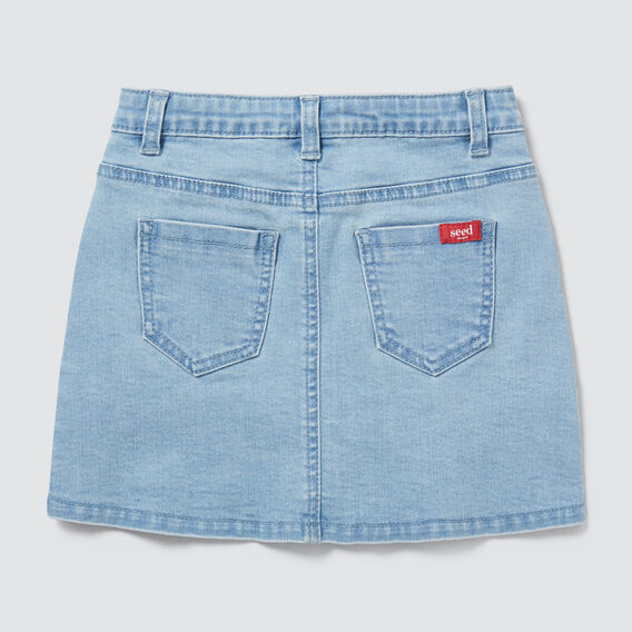 Button-Through Denim Skirt  SUMMER BLUE  hi-res
