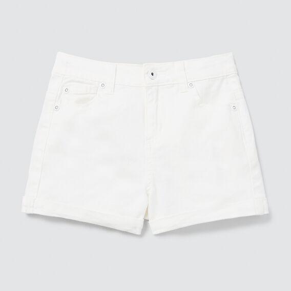 Denim Shorts  WHITE  hi-res