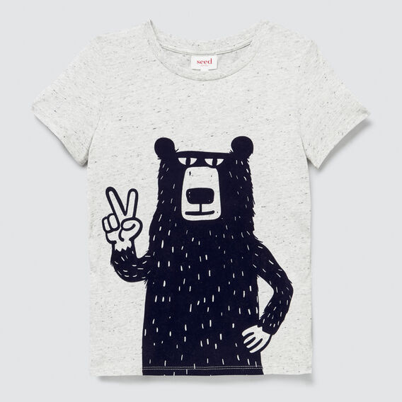 Flock Bear Tee  CLOUDY MARLE  hi-res