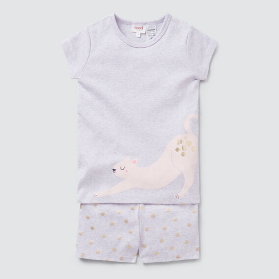 Novelty Cat Pyjama  LILAC MARLE  hi-res