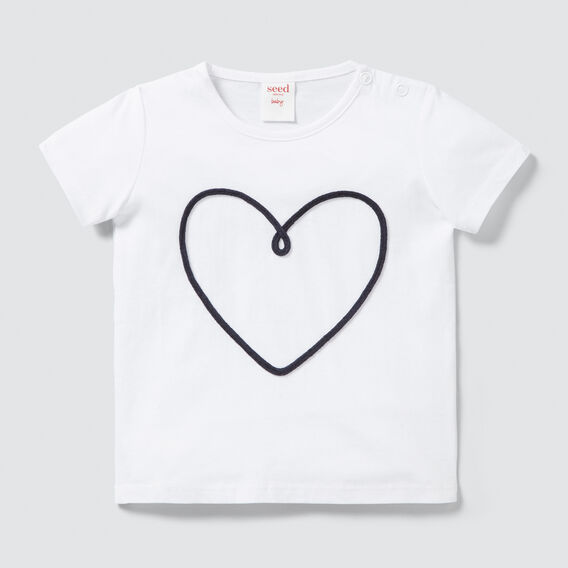 Rope Heart Tee  WHITE  hi-res