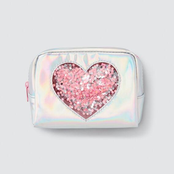 Confetti Heart Zip Case  IRIDESCENT  hi-res
