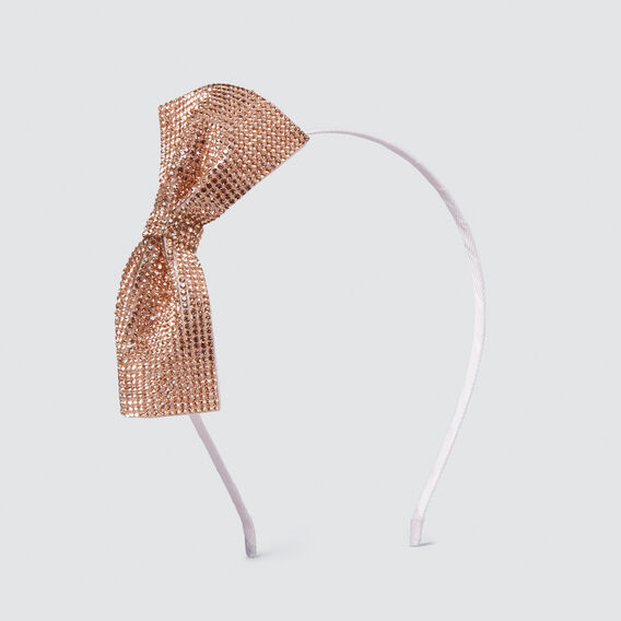 Rose Gold Jewel Bow Headband  ROSE GOLD  hi-res