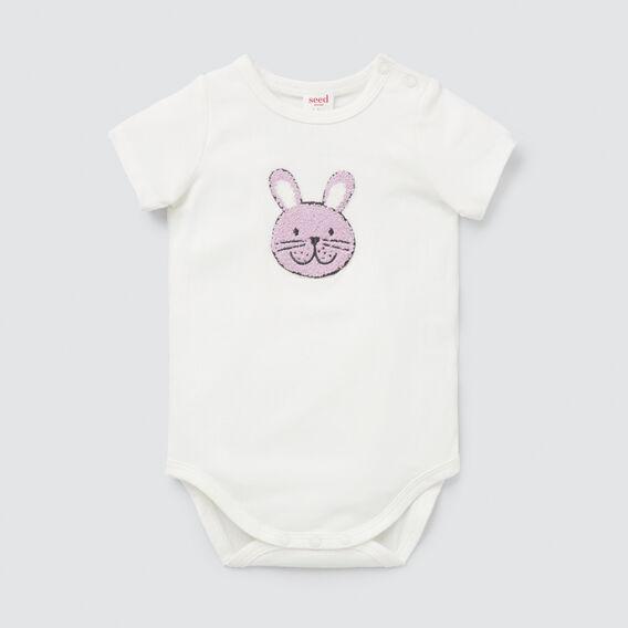 Chenille Bunny Bodysuit  CANVAS  hi-res